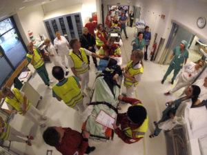 mottak i sykehus av pasient med traume skade